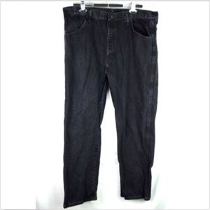 Rustlers mens black straight leg relaxed fit jeans